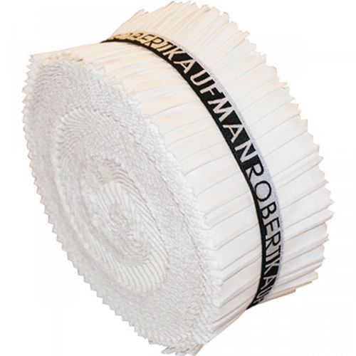 "2,5"" Streifen Roll Up Kona Solids white"