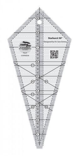 Quilting Lineal mit 30 Grad dreieckigen und diamanttransparenten Patchworks N/ähen Schneiden Craft Lineal DIY Tools Gelentea N/ählineal
