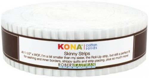 "1,5"" Streifen Skinny Strip Kona Solids White"