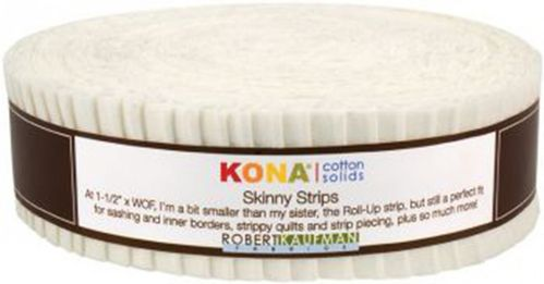 "1,5"" Streifen Skinny Strip Kona Solids Snow"
