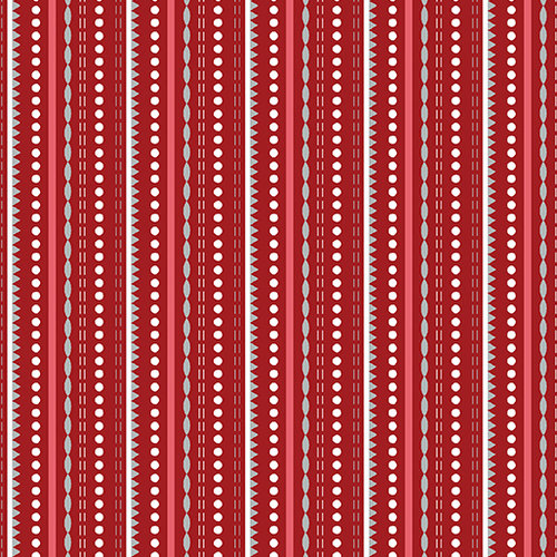 Dotted Stripe Red