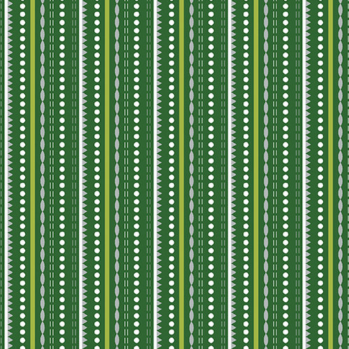 Dotted Stripe Green