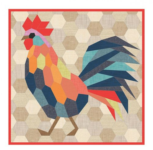 the Rooster English Paper Piecing Project
