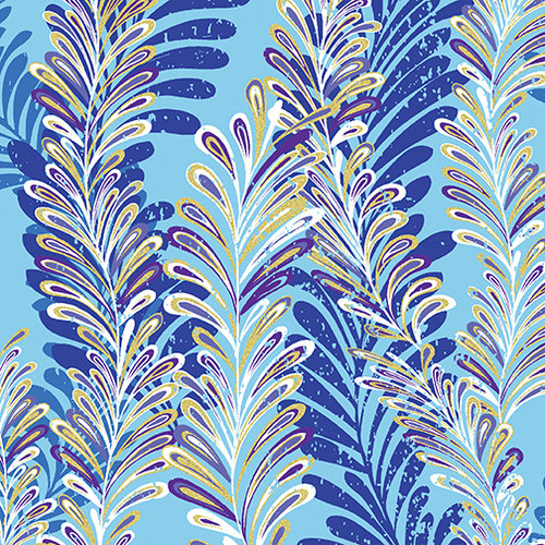 Butterfly Jewel - Jeweled Ferns Aqua/Blue