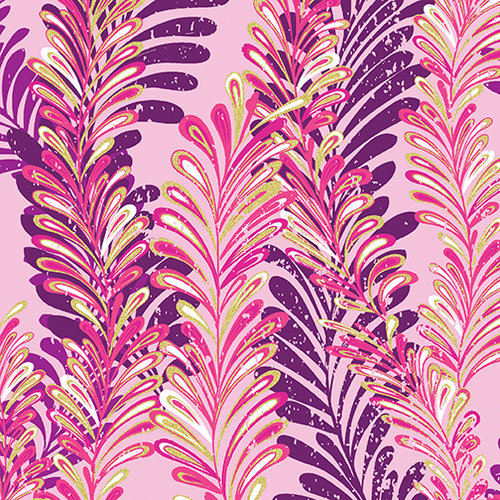 Butterfly Jewel - Jeweled Ferns Pink