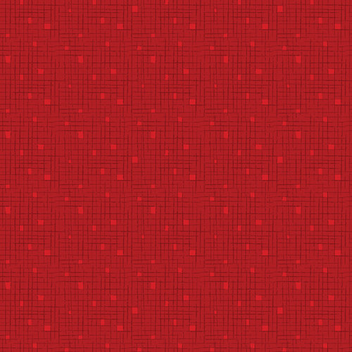 Fandangle - Confetti Crosshatch Red