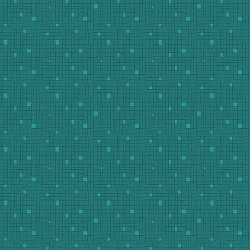 Fandangle - Confetti Crosshatch Teal