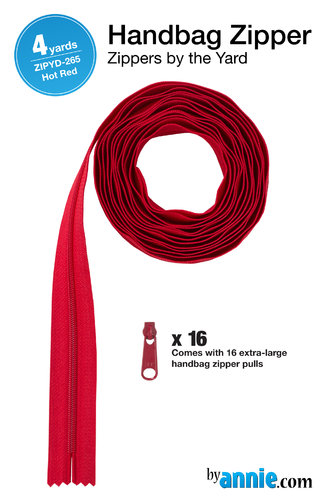 Reißverschluss - 4 yards  Hot Red