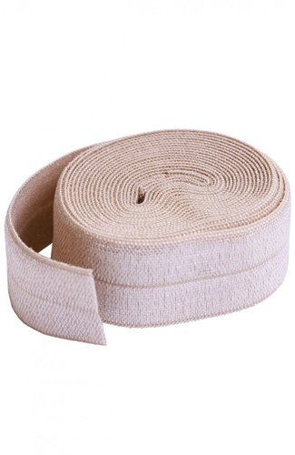 Fold Over Elastic - Natural