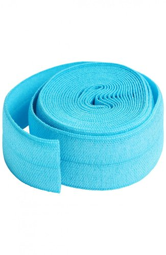 Fold Over Elastic - Parrot Blue