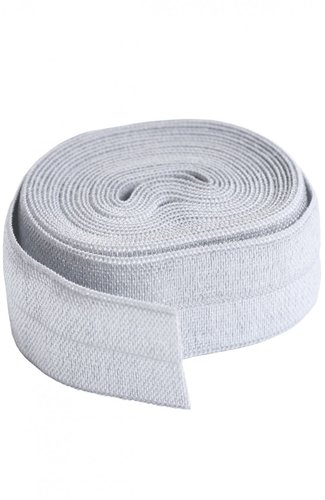Fold Over Elastic - Pewter