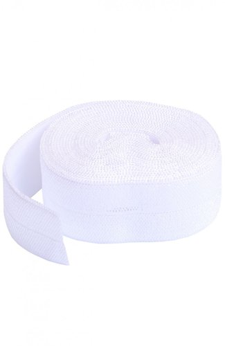 Fold Over Elastic - White