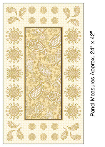 Jubilee - Embroidery Panel Cream