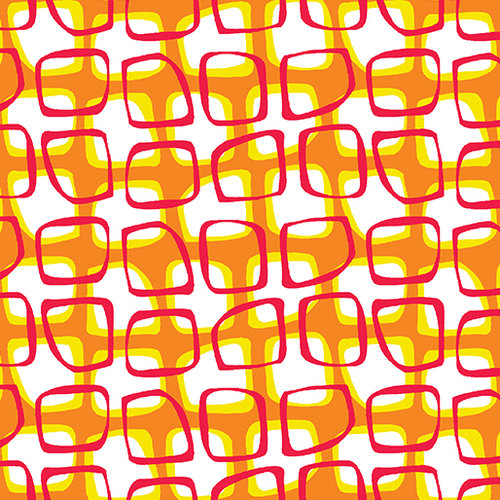 Abstract Garden  - Trellis Orange