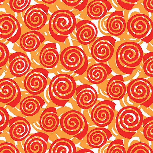 Abstract Garden - Blooming Roses Orange