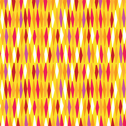 Abstract Garden - Picket Fences Mustard