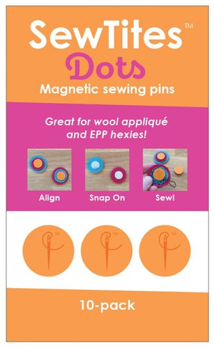 Sew Tites Dots - Magnetic sewing pins (10-er Pack)