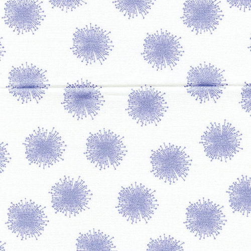 Pearl Reflections - Floating Dandelion - White / Purple