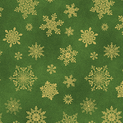Cat-I-tude Christmas - Playful Flakes - Dark Green