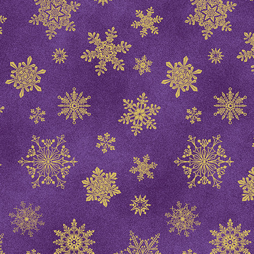 Cat-I-tude Christmas - Playful Flakes - Purple