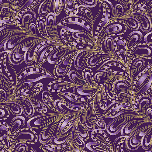 Cat-I-tude Christmas - Featherly Paisley - Plum