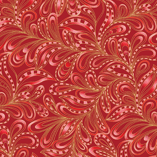 Cat-I-tude Christmas - Featherly Paisley - Rouge