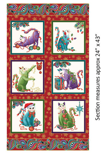 Cat-I-tude Christmas - Paisley Panel