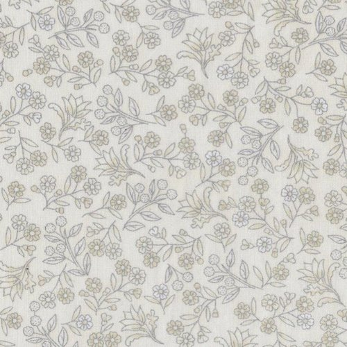 Melba - Small Floral Ivory/Silver