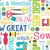 Sew Excited - Sew Wordy White - 7824-09