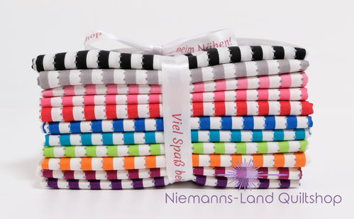 Fat Quarter Paket BeColourful - Stripes