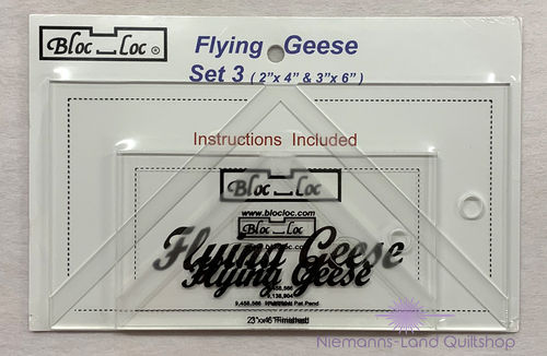 BlocLoc Lineal Flying Geese Set 3
