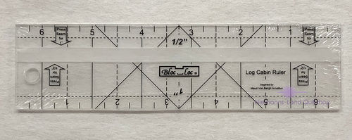 BlocLoc Log Cabin Ruler 0,5 inch & 1 inch