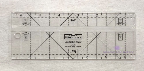 BlocLoc Log Cabin Ruler 0,75 inch & 1,5 inch
