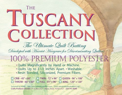 "Hobbs Vlies Tuscany Polyester,  - Twin Size - 72"" x 96"" (1,82m x 2,43m)"