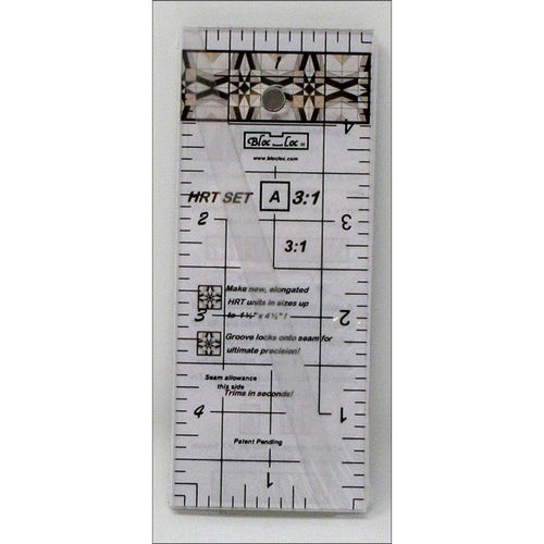 BlocLoc Lineal Half Rectangle Triangle Ruler Set 3:1 Mini
