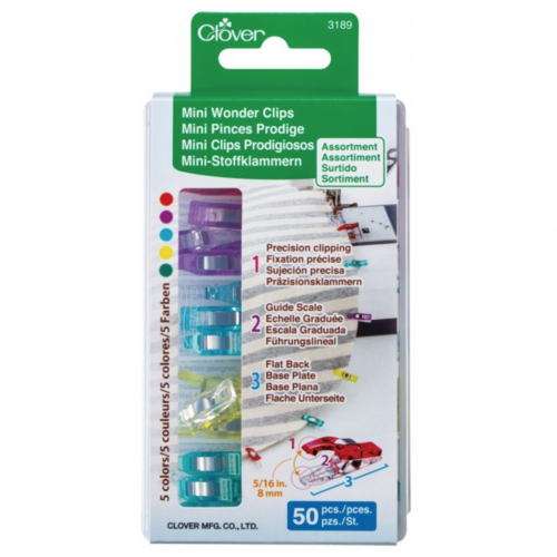 Clover Mini Wonderclips bunt - 50-er Packung