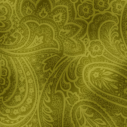 "Radiant Paisley 108"" - Green"