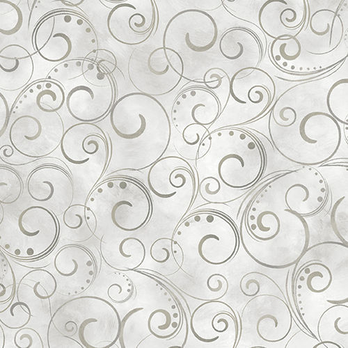 "Swirling Splendor 108"" - Cloud Gray"