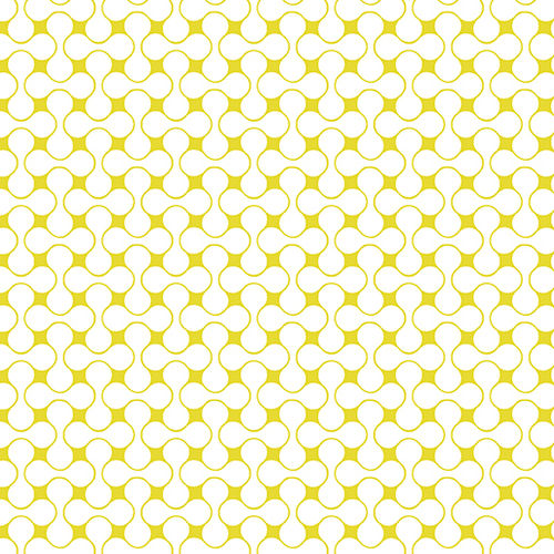 Good Vibes - Interconnected Yellow / White - 1638-34