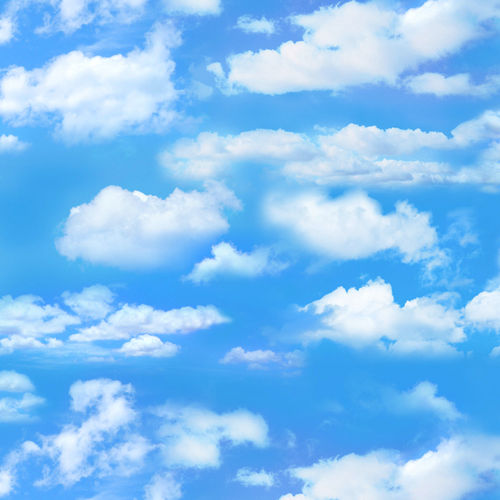 Landscape Medley - Small Clouds - Blue