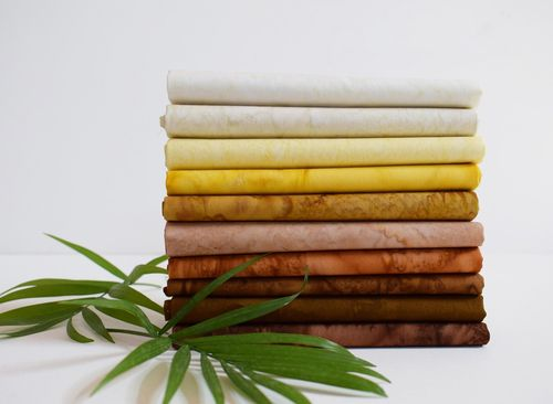 Fat Quarter Paket Lava Batiks - Golden Brown