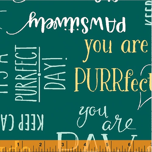 Purrfect Day - Purrfect Words Teal